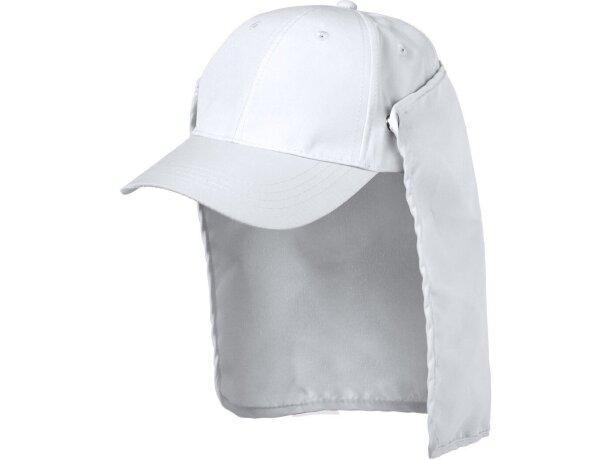 Gorra legionario de microfibra con logo blanca