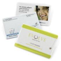 Hilo dental de fabricación especial en tarjeta a todo color personalizado
