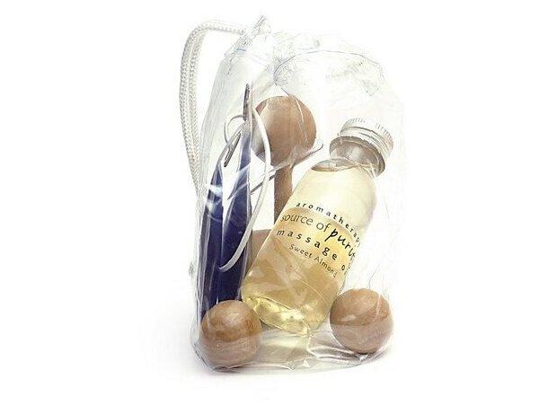 Kit de masaje en bolsa personalizado