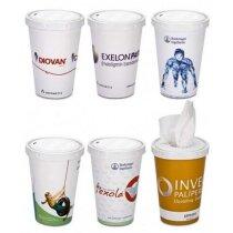 Pañuelos de papel en copa personalizada