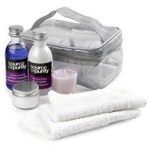 Set de baño de regalo aroma lavanda personalizado