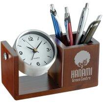 Reloj de escritorio personalizado marron