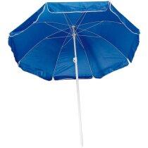Sombrilla con bolsa transparente azul