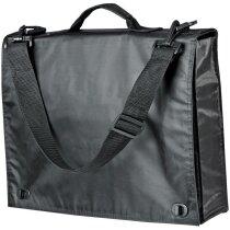 Maletín portadocumentos con bolsillos y organizador personalizado negro