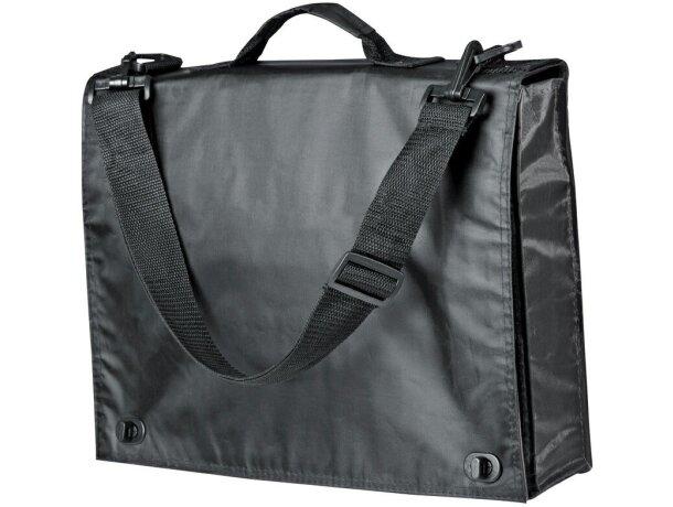 Maletín portadocumentos con bolsillos y organizador negro