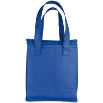 Bolsa nevera vertical de non woven personalizada azul