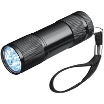Linterna de aluminio de 9 luces led personalizada negra