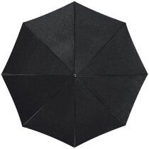 Paraguas con protección rayos uva personalizado negro