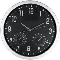 Reloj de pared redondo con esfera de color personalizada negra