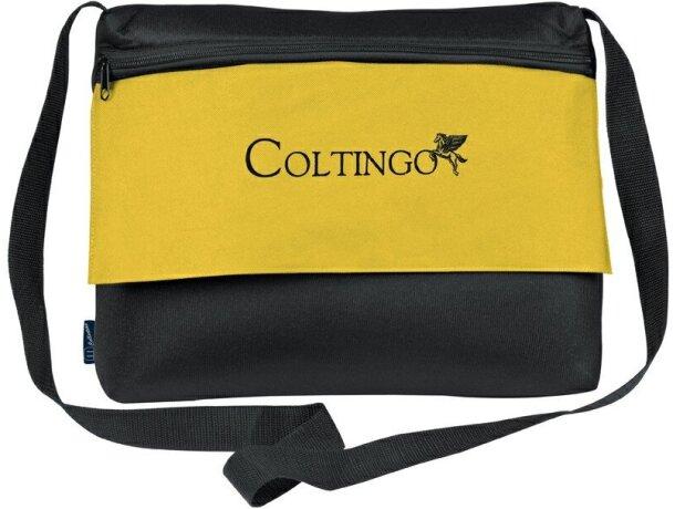 Bolsa para ordenador portátil con anti choque personalizada amarilla