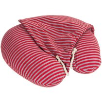 Almohadilla con capucha rayas roja barata