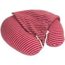 Almohadilla con capucha rayas roja