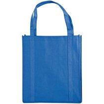 Bolsa amplia para la compra con cómodas asas azul