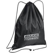Bolsa de poliéster para el gimnasio con logo negra