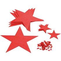 Set de estrellas de Navidad en fieltro personalizado rojo