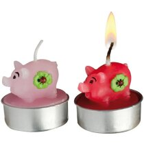 Juego de velas con dois cerditos de la suerte personalizado