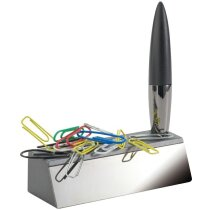 Bolígrafo con soporte personalizado plata