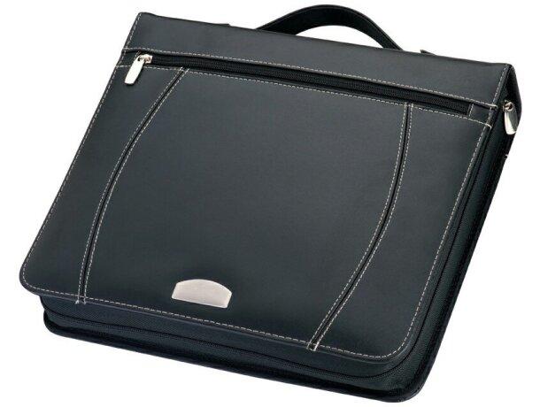 Portafolios A4 de Anillas con Calculadora Y Bloc. grabado negro