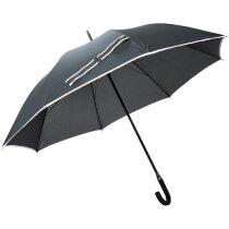 Paraguas Grande con Mastil de Fibra de Vidrio personalizado negro