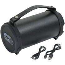 Altavoz con radio bluetooth personalizado negro