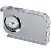 Reloj en bloque de cristal personalizado blanco