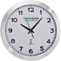 Reloj de sobremesa con radio personalizado blanco