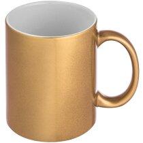 Taza con Acabados Metálicos oro