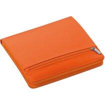Funda para tablet portadocumentos con cremallera naranja personalizado