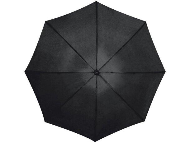 Paraguas de golf con mango recto personalizado negro