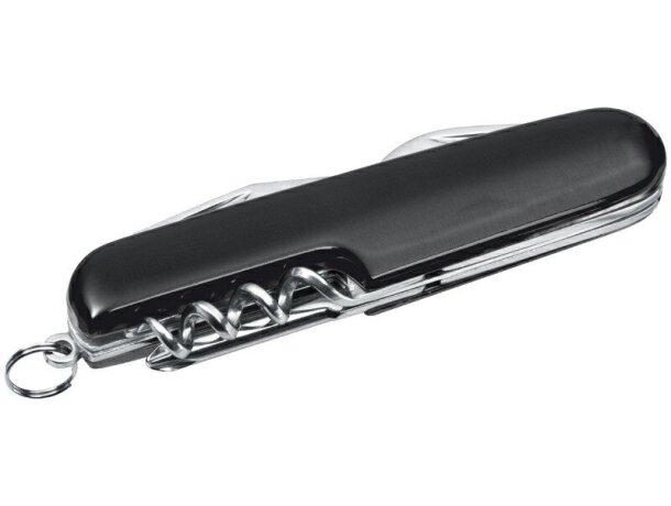 Navaja de bolsillo con 7 funciones personalizada negra