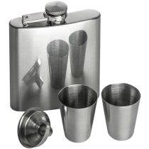 Petaca con vasitos plata