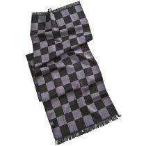 Bufanda con Diseño Ajedrez. personalizada negra