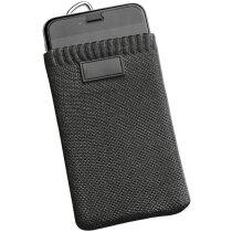 Funda colgable para móvil con enganche metálico personalizada negra