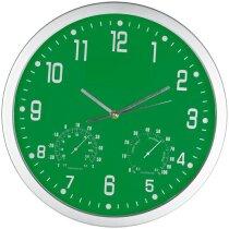 Reloj de pared redondo con esfera de color