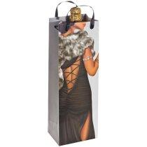 Bolsa de regalo para vino con imagen de hombre y mujer