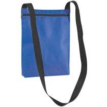 Bolsa bandolera de non woven personalizada azul