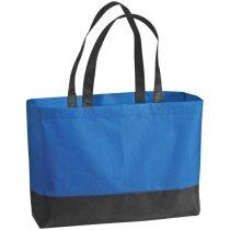 Bolsa de la compra de colores combinados azul personalizada