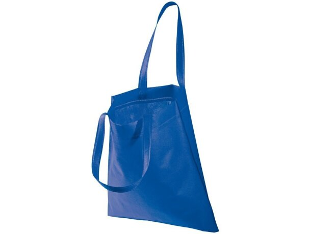 Bolsa de no tejido con asas grandes azul