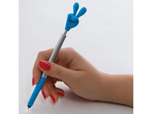 Bolígrafo con forma de mano flexible personalizado