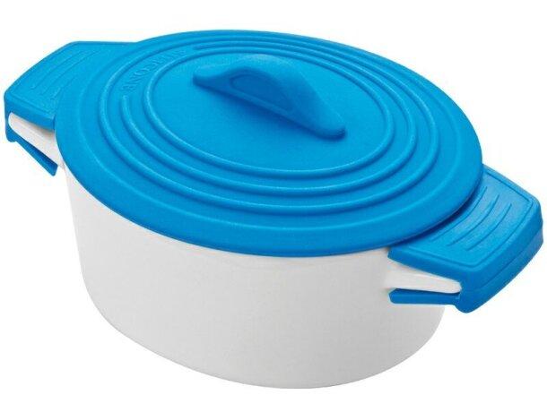 Pote De Porcelana Con Tapa De Silicona Y Protecciones En Las Asas.