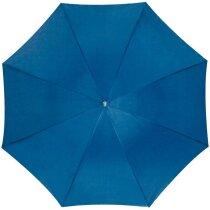 Paraguas con mastil de aluminio y sistema automático personalizado azul