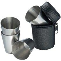 Set de 4 vasos de licor personalizado negro