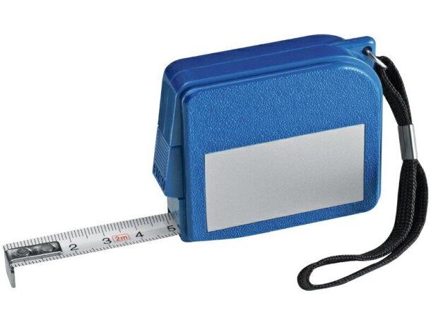 Flexómetro de 2 metros de colores personalizado azul