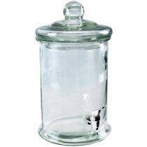Dosificador de cristal para bebidas alcoholicas personalizado blanco