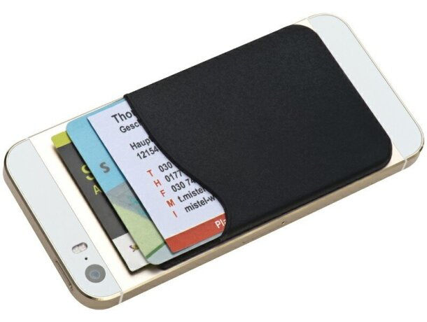 Bolsillo adhesivo para smartphone barato negro