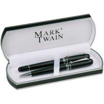Set de escritura de la marca Mark Twain personalizado negro
