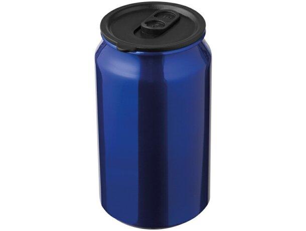 Taza con Apariencia de Lata Metálica personalizada azul