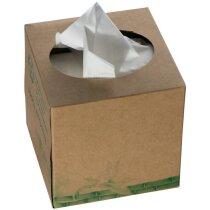 Caja cartón con 60 Pañuelos marron