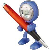 Reloj de sobremesa marciano personalizado azul