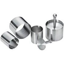 Moldes de acero para aperitivos personalizado plata